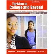 Thriving in College & Beyond: Strategies for Academic Success and Personal Development: Concise Version,9781465213754