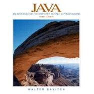 Java : An Introduction to Computer Science and Programming,9780131013780