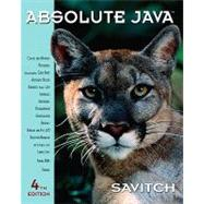 Absolute Java,9780136083825