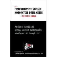 The Comprehensive Vintage Motorcycle Price Guide 2010 / 2011..., 9781884313851  