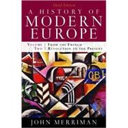 History of Modern Europe Vol. 2 : From the French Revolution to the Present,9780393933857