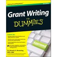 Grant Writing For Dummies, 9781118013878