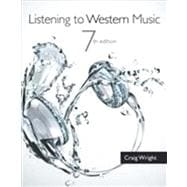 Listening to Western Music (with Introduction to Listening CD),9781133953913