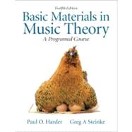 Basic Materials in Music Theory A Programed Approach with Audio CD