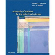 Essentials of Statistics for the Behavioral Science, 9780495383949