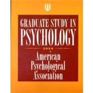 Graduate Study in Psychology, 2009, 9781433803956  