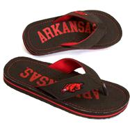 Arkansas Razorbacks Canvas Flip Flops