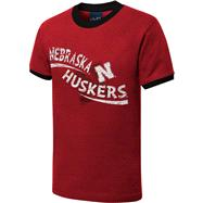 Nebraska Cornhuskers Youth Red Scattershot Ringer T-Shirt