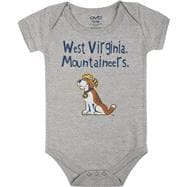 West Virginia Mountaineers Infant Grey Little One Creeper