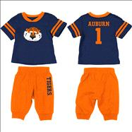 Auburn Tigers Navy Infant Quarterback T-Shirt and Pant Combo Set