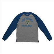 West Virginia Mountaineers Old Varsity Brand Navy Youth Triple Header Raglan Long Sleeve T-Shirt