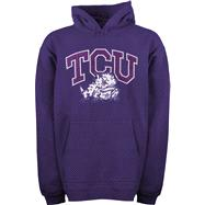 TCU Horned Frogs Youth Purple Tackle Twill Hooded Sweatshirt