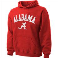 Alabama Crimson Tide Youth Cardinal Tackle Twill Hooded Sweatshirt