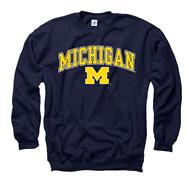Michigan Wolverines Youth Navy Perennial II Crewneck Sweatshirt