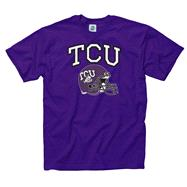 TCU Horned Frogs Purple Football Helmet T-Shirt