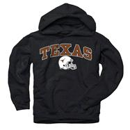 Texas Longhorns Youth Black Football Helmet Hooded Sweatshirt