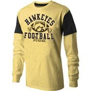 Iowa Hawkeyes Black Sack Novelty Long Sleeve T-Shirt