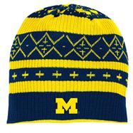 Michigan Wolverines adidas Cuffless Knit Hat