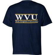 West Virginia Mountaineers Navy The Bar T-Shirt from The Game