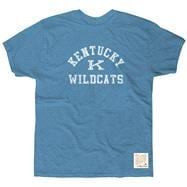 Kentucky Wildcats Blue Retro Brand Vintage Logo Slub Knit T-Shirt