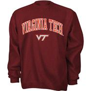 Virginia Tech Hokies Maroon Tackle Twill Crewneck Sweatshirt