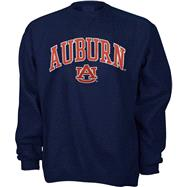 Auburn Tigers Youth Navy Tackle Twill Crewneck Sweatshirt