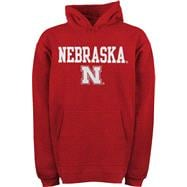 Nebraska Cornhuskers Toddler adidas Red Tackle Twill Hooded Sweatshirt