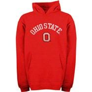 Ohio State Buckeyes Kids 4-7 Red Tackle Twill Hooded Sweatshirt