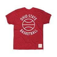 Ohio State Buckeyes Red Retro Brand I Love College Hoops Slub Knit T-Shirt