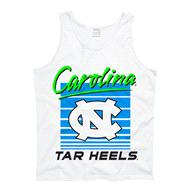 North Carolina Tar Heels White Bogus Neon Tank Top