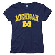 Michigan Wolverines Women's Arch N Mascot T-Shirt