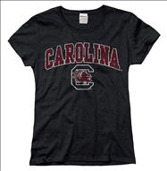 South Carolina Fighting Gamecocks Women's Arch N Mascot T-Shirt