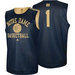 Notre Dame Fighting Irish adidas College Basketball #1 Practice Jersey - Navy