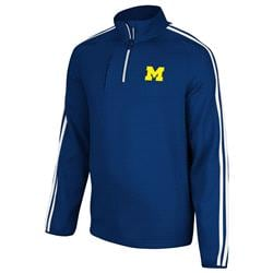 Michigan Wolverines adidas 3-Stripe Quarter Zip Shooting Top - Navy