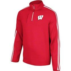 Wisconsin Badgers adidas 3-Stripe Quarter Zip Shooting Top - Red