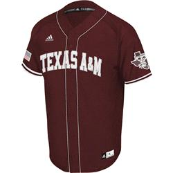 Texas A&M Maroon adidas Premier II Baseball Jersey