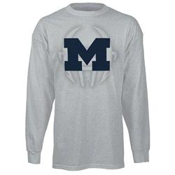 Michigan Wolverines adidas 2013 Spring Game Football Sideline Long Sleeve T-Shirt - Grey