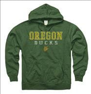 Oregon Ducks Worn Out Ring Spun Hooded Sweatshirt