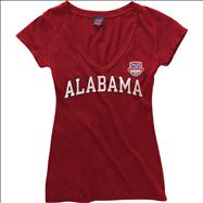 Alabama Crimson Tide Women's 2013 BCS National Championship Game Arch T-Shirt - Cardinal