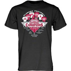 Alabama Crimson Tide 2012 BCS National Champions Peak T-Shirt - Black