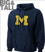Michigan Wolverines Big & Tall Tek Patch Hooded Sweatshirt