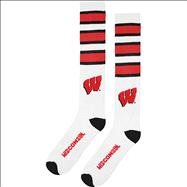 Wisconsin Badgers Rugby Striped Socks