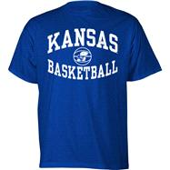 Kansas Jayhawks Royal Reversal Basketball T-Shirt