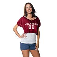 Stanford Cardinal Women's Cardinal Cropped Top Mesh Jersey
