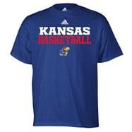 Kansas Jayhawks adidas Royal Basketball Sideline T-Shirt