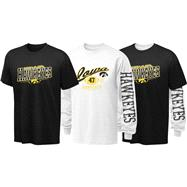 Iowa Hawkeyes Youth Long Sleeve/Short Sleeve 3-in-1 T-Shirt Combo Pack