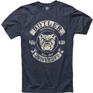 Butler Bulldogs Heathered Navy Rockers Ring Spun T-Shirt