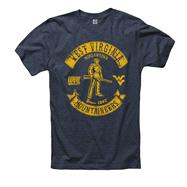 West Virginia Mountaineers Heathered Navy Rockers Ring Spun T-Shirt