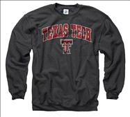Texas Tech Red Raiders Black Perennial II Crewneck Sweatshirt