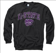 Kansas State Wildcats Black Perennial II Crewneck Sweatshirt